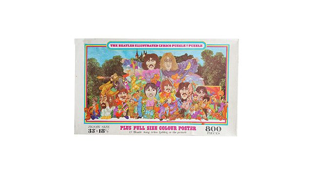 The Beatles Illustrated Lyrics Puzzle in a Puzzle